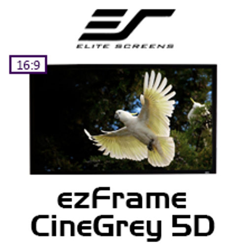 "Elite Screens ezFrame CineGrey 5D 16:9 Fixed Frame Projection Screens (100-150"")"