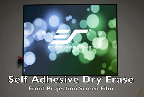 "Elite Screens Insta-DE2A Self-Adhesive Dry-Erase Soft Pad WhiteBoard Projection Screens (114"", 366"")"