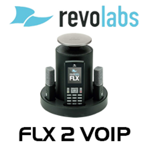 Revolabs FLX2 Wireless VOIP Conference Phone With Omni / Wearable Microphones