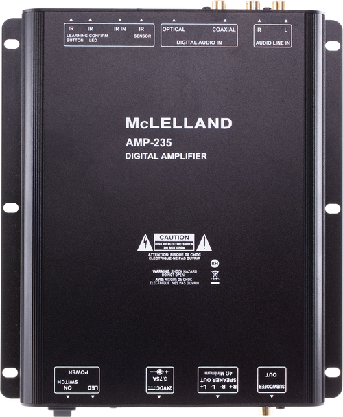 McLelland AMP235 2-Channel 35W Class-D Amplifier With IR