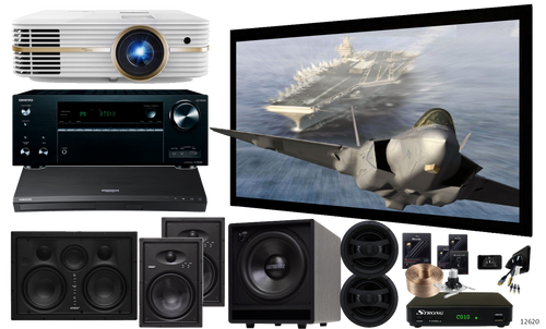 AVA IW&C-SIL-12620 Silver In-Wall & Ceiling Home Theatre Package
