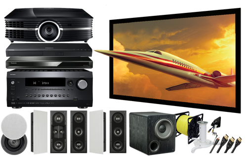 AVA IW-GOL- 12622 Gold In-Wall Home Theatre Package