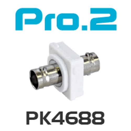 Pro.2 BNC to BNC Socket Wallplate Insert