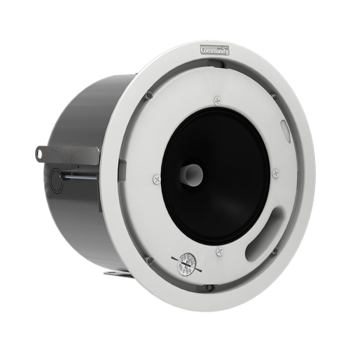 "Community D6 6.5"" 70/100V High Output Coaxial In-Ceiling Speakers (Pair)"