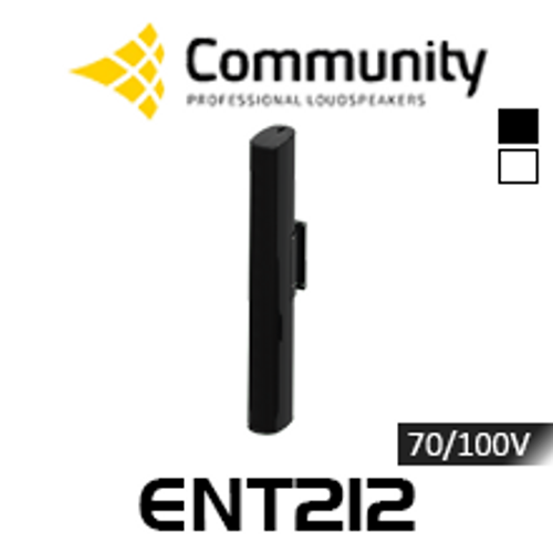 Community ENTASYS ENT212 Twelve 80mm 70/100V Column Point Source Loudspeaker (Each)
