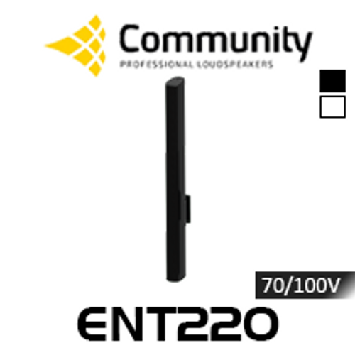 Community ENTASYS ENT220 Twenty 80mm 70/100V Column Point Source Loudspeaker (Each)