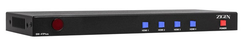 Zigen 4x1 HDMI 2.0 Switcher with Audio Deembedding & Diagnostics Tools