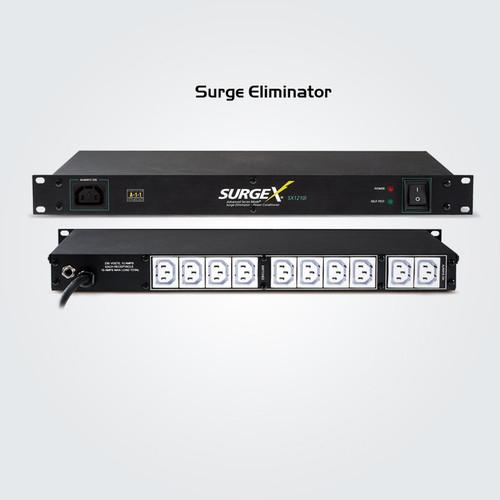 SurgeX Advanced SX1210 Series 1RU Rack Mount Surge Eliminator With IEC Connectors