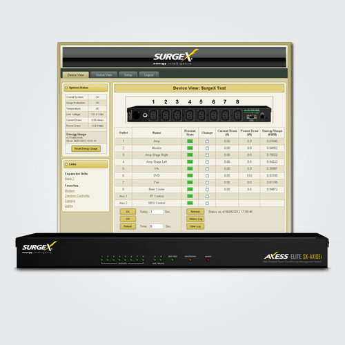 SurgeX Advanced SX-AX10Ei/AX16Ei IP Enabled Surge Eliminator