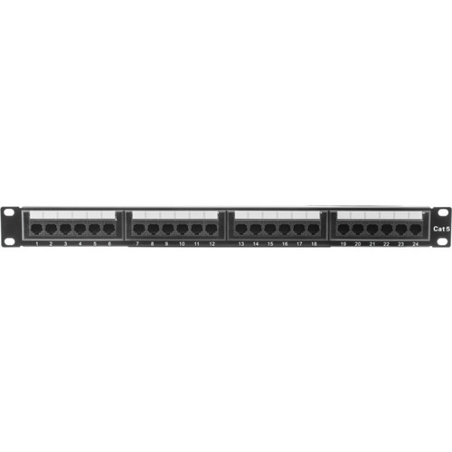 TE 24 Port Metal Cat5e Patch Panel