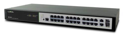 Luxul XMS-2624P 26-Port / 24 PoE+ Gigabit Managed Switch