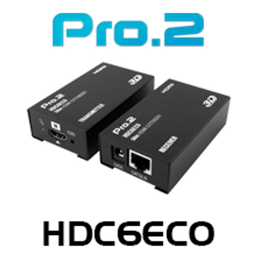Pro.2 HDC6ECO HDMI Over Single Cat6 Extender (50m)