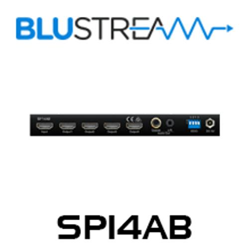 BluStream SP14AB 1:4 HDMI 4K Splitter with Audio Breakout