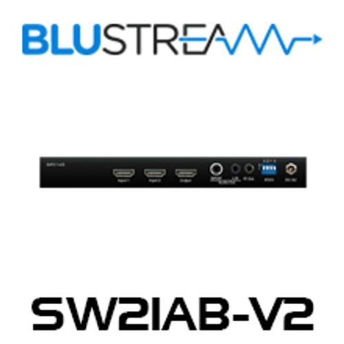 BluStream SW21AB-V2 2-Way 4K HDMI 2.0 Switch With Audio Breakout