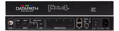 Datapath FX4 4K Display Wall Controller with 4 HDMI / DisplayPort Output