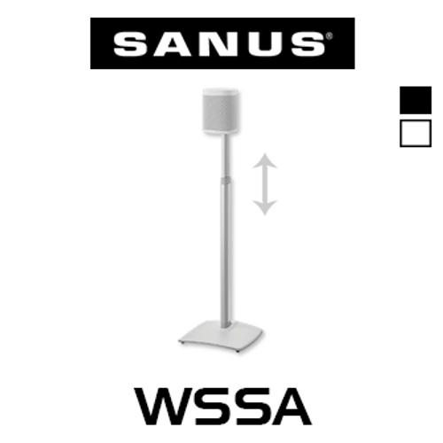 Sanus WSSA Height Adjustable Speaker Stand For Sonos One, Play:1 & Play:3 (Each)