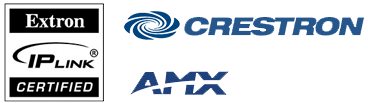 Creston, AMX, and Extron control systems compatible