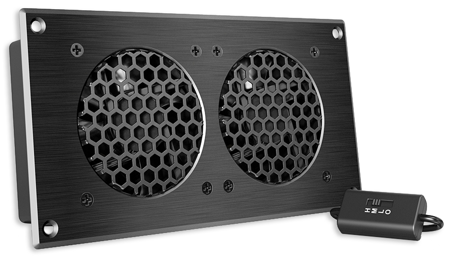 AC Infinity Dual 80/120mm Airplate AV Cabinet Cooling Fan