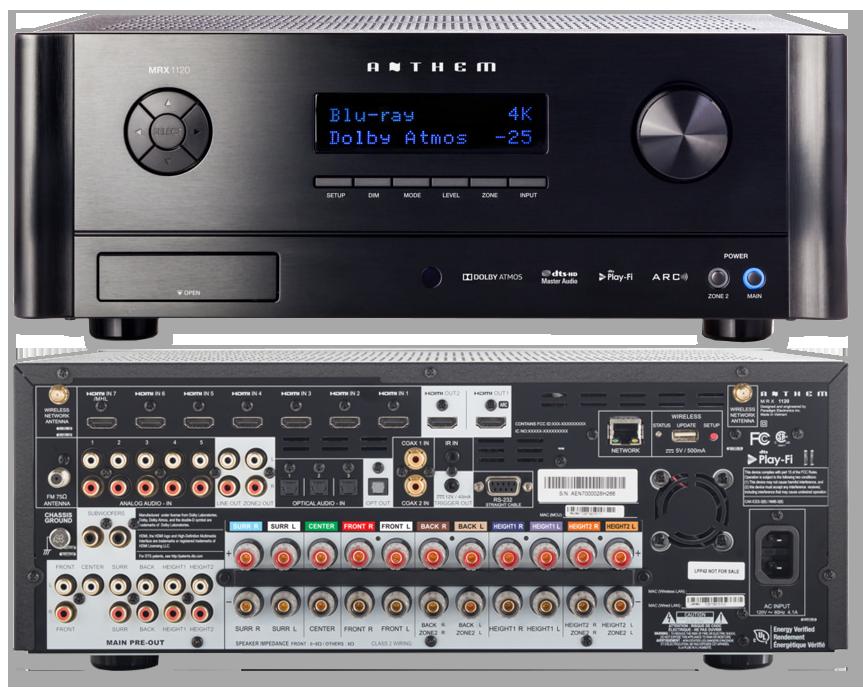Anthem MRX1120 11.2 Pre-Amplifier & 11 Amplifier Channel AV Receiver