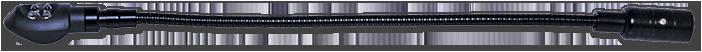 AVA 12VDC XLR 350mm Gooseneck LED Lamp