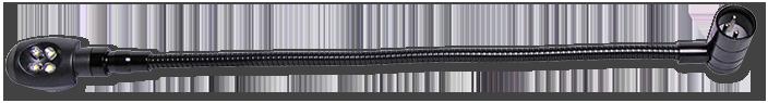 AVA 12VDC XLR 450mm Gooseneck LED Lamp