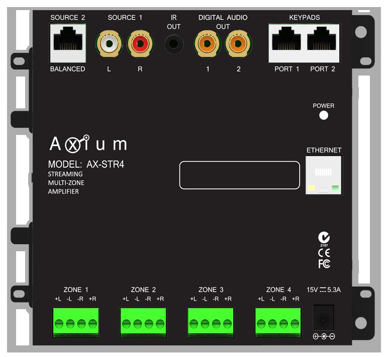 Axium AX-Mini4 Multiroom Streaming Amplifier