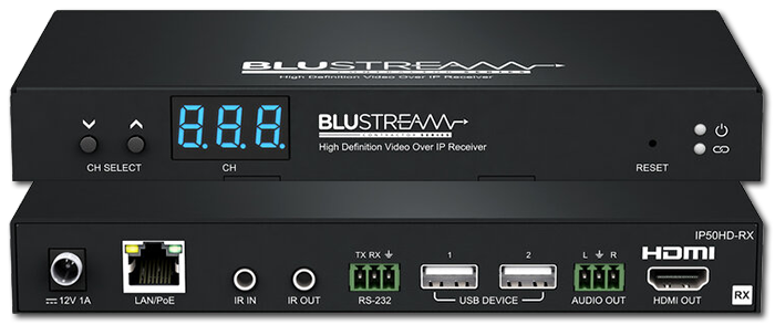 BluStream Contractor IP50HD-RX 1080P Multicast Video Receiver Over IP