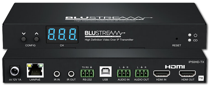 BluStream Contractor IP50HD-TX 1080P Multicast Video Transmitter Over IP