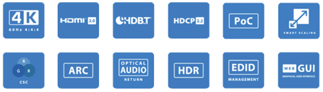BluStream Essential HMXL88ARC 8x8 4K UHD HDBaseT CSC ARC Matrix
