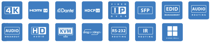 BluStream IP250UHD-RX Multicast UHD Video Receiver features