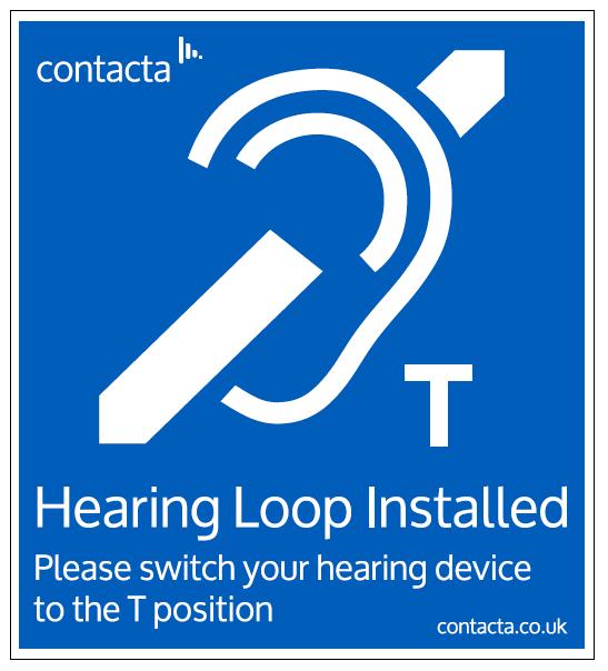 Contacta IL-SN Hearing Loop Sign