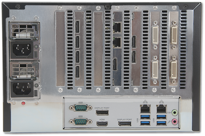 Datapath VSNMicro 600 Video Wall Controller rear view