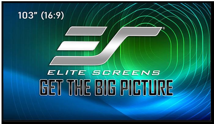 Elite Screens Aeon CLR 3 Edge Free 8K/4K 16:9 Fixed Frame Projection Screens