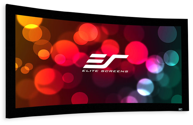 """Elite Screens Lunette235 103""""-158"""" Curved Fixed Frame 2.35:1 4K Acoustically Transparent Material"""