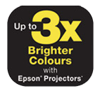 Epson Projector - 3 x Brighter Colours