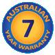 7 Year Australian Warranty