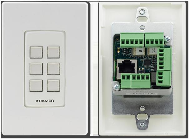 Kramer RC-306 6-Button PoE I/O Control Keypad