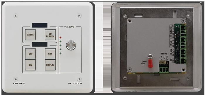 Kramer RC-63DLN 6-Button KNET Control Keypad with Vol Knob & LCD Display