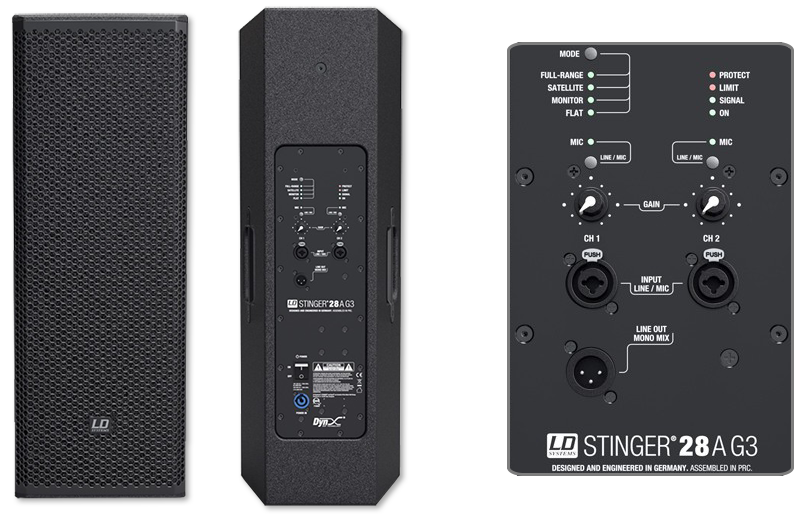 """LD Systems STINGER28A G3 Dual 8"""" Active Bass Reflex PA Speaker"""