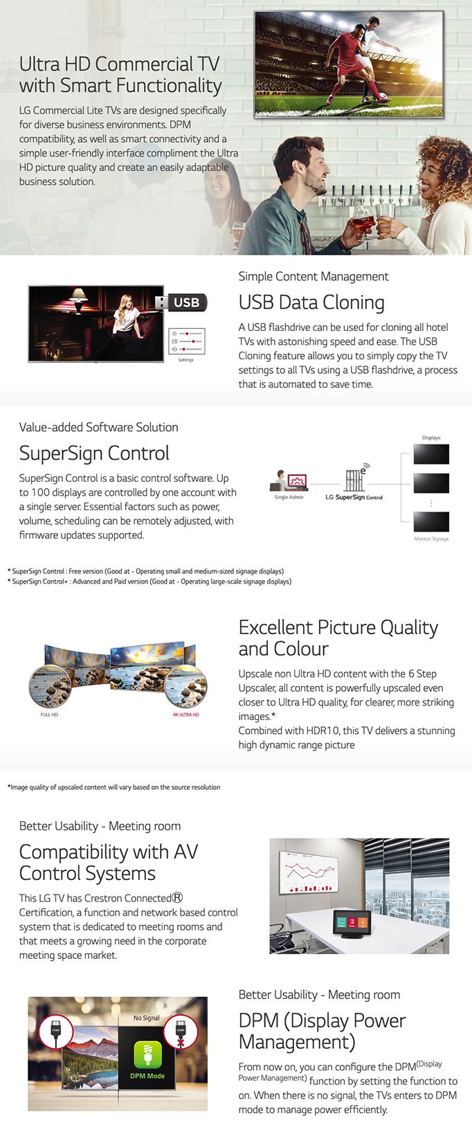 LG UU640C 4K UHD HDR Commercial Smart LED TV | AV Australia Online