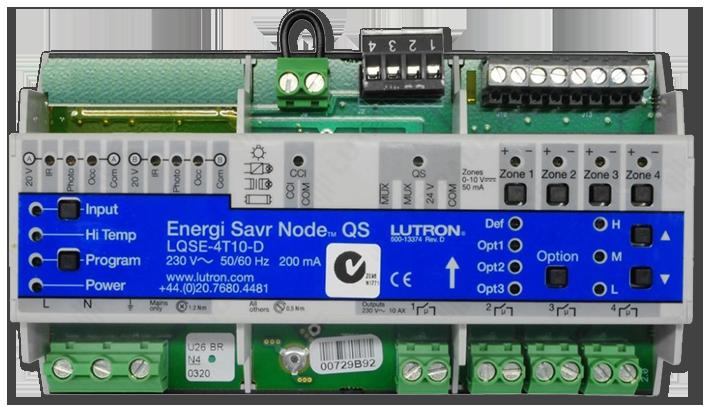 Lutron 0-10 Volt 4 Switched Zones DIN Power Module
