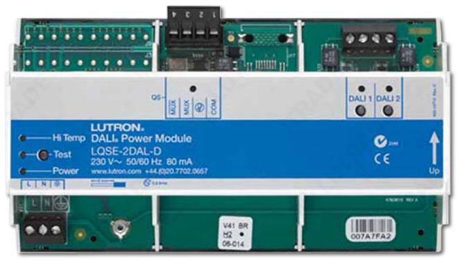Lutron 2 Loops Dali DIN Power Module with 64 Ballasts Each