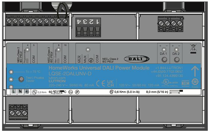 Lutron HomeWorks Universal Dali Power Module