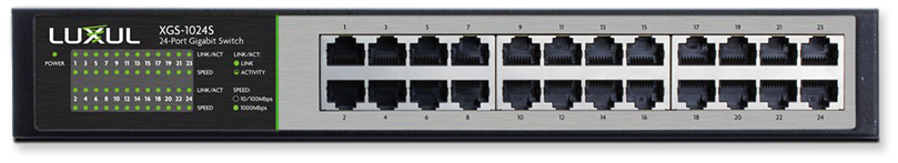 Luxul XGS-1024S 24-Port Gigabit Flex Mount Switch