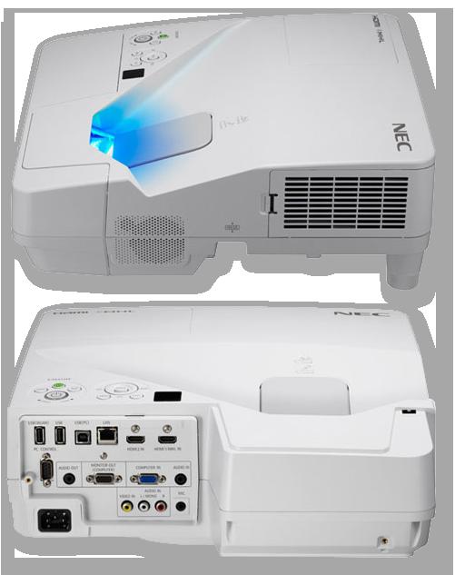 NEC UM352WG 3500 Lumens XGA Ultra Short Throw LCD Projector