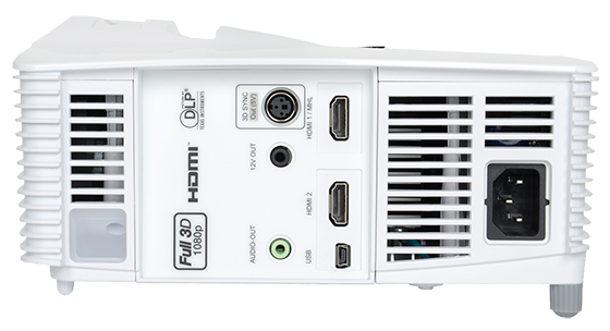 Optoma GT1080 ultimate gaming projector connectivity panel