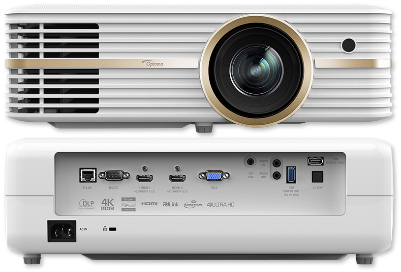 Optoma UHD51 2400 Lumen 4K UHD HDR 3D DLP Projector