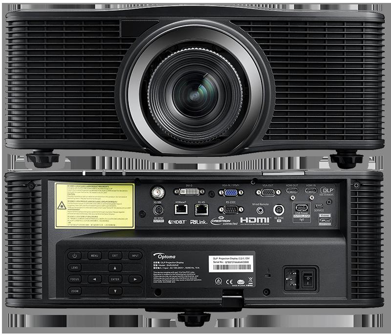 Optoma ZU1050 WUXGA 10000 Lumens ProAV MultiColor Laser Projector