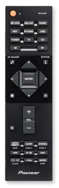 Pioneer VSX-831 5.2-Channel AV Receiver with HDR - remote control