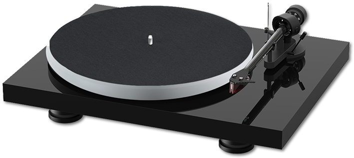Pro-Ject Debut Carbon Evo Acryl Turntable Inc. Ortofon 2M Red